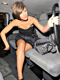 Frankie Sandford upskirt downblouse