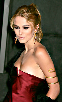Keira Knightly downblouse hot dress