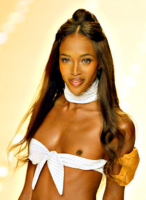 Naomi Campbell hard nip downblouse